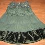 Falda verde de entretiempo