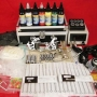 KIT TATTOO PROFESIONAL 2 MAQUINAS Y 7 TINTA 30ML COMPLETISIMO