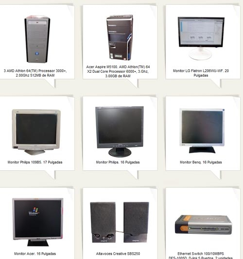¡oportunidad! venta equipos informáticos y mobiliario