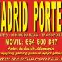 PORTES ECONOMICOS  MADRID  ((654.60.0847)) RECOGIDA DE TRASTOS