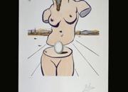 El Nacimiento de Venus. Litografia de Dali