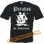 Camisetas divertidas - PIRATAS DE INTERNET