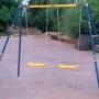 Columpios infantiles dos asientos con cuerdas