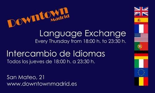 Intercambio de idiomas / language exchange (jueves de 18:00 - 23:30 h)
