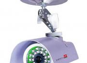 Camara color con vision nocturna metalica para exterior