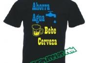 Camisetas Divertidas - AHORRA AGUA BEBE CERVEZA