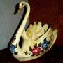 Gran cisne precioso*ceramica envejecida*