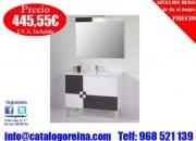Mueble de bano ADELAIDA 100 Blanco/Grafito