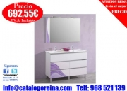 Mueble de bano QUITO 120 Blanco/Lila