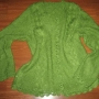 Chaqueta artesanal verde hierba para mujer