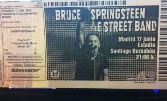 Vendo entradas bruce springsteen madrid 2012