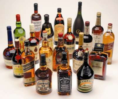 Botellas de alcohol primeras marcas