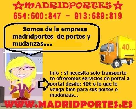 Busco portes economicos (913+689*819) portes economicos en madrid