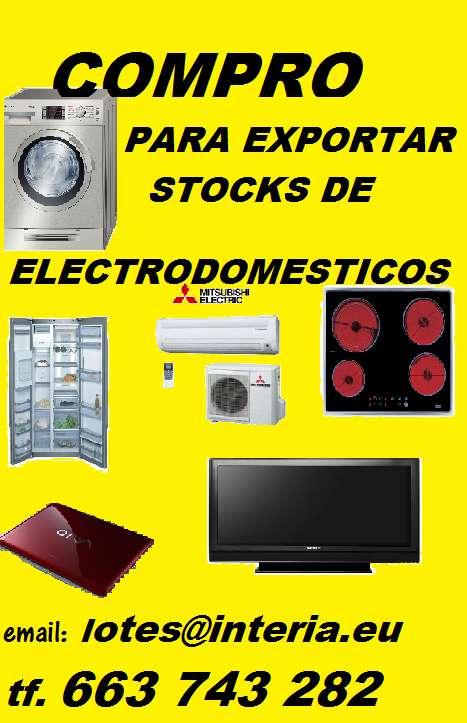 Compro stocks, lotes, partidas de electrodomesticos