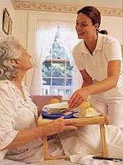 Cuidadora de personas mayores y niños