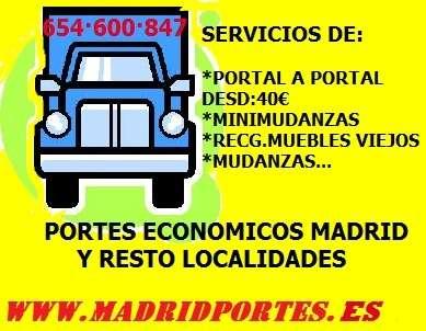 Minimudanzas/portes economicos 91:3.68*98/19 en madrid
