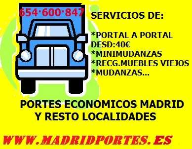 Mudanzas(estudiantes/empresas) 65/4600(847)portes economicos en madrid
