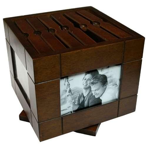 Portafotos - caja de madera maciza (nuevo a estrenar)