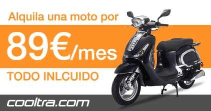 Alquila tu moto desde sólo 89 euros al mes