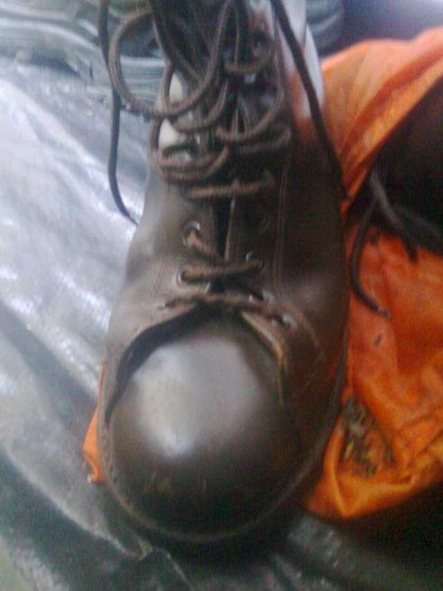 Vendo botas de cuero marrones tipo militar como nuevas