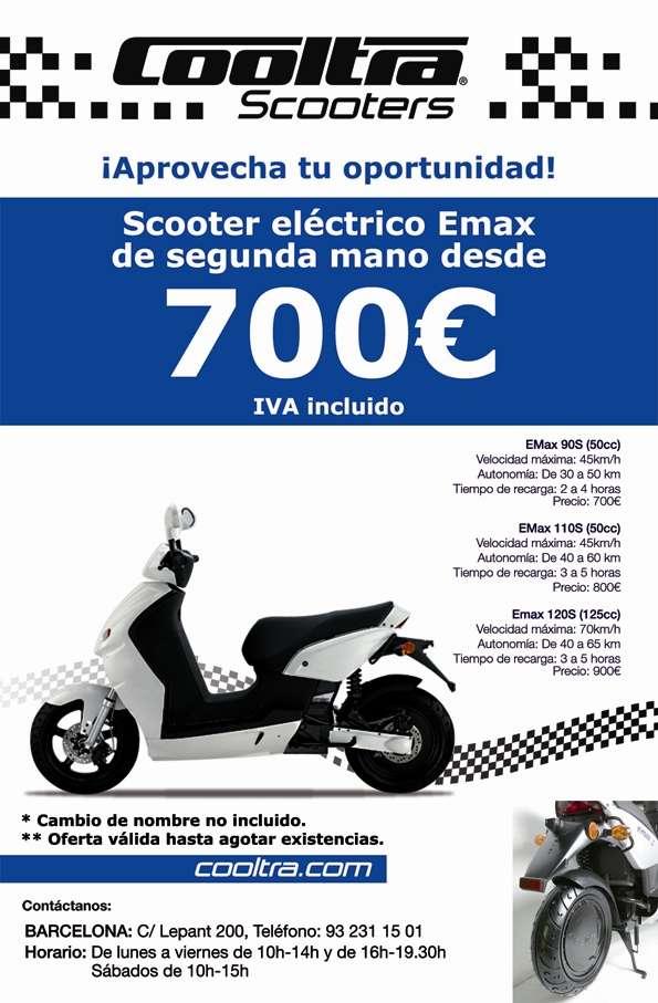 Scooters eléctricos cooltra emax de 2ª mano desde sólo 700 euros