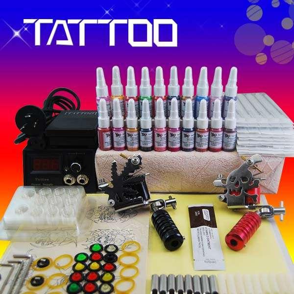 Kit tatuaje 2 nuevo maquinas 20 tintas a097