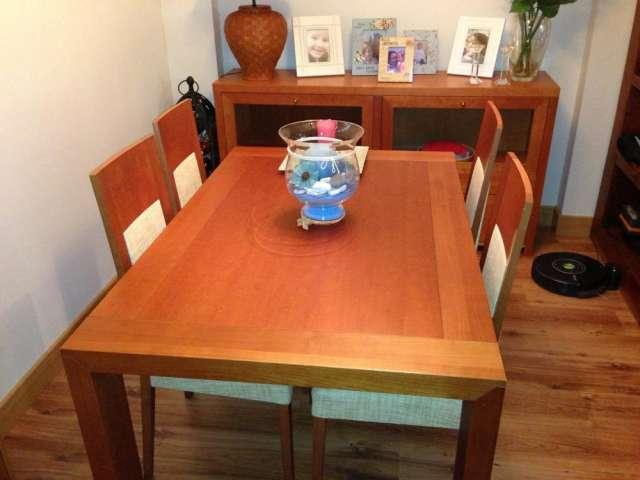 Mesa comedor con 4 sillas y aparador de cerezo en Las Rozas ...
