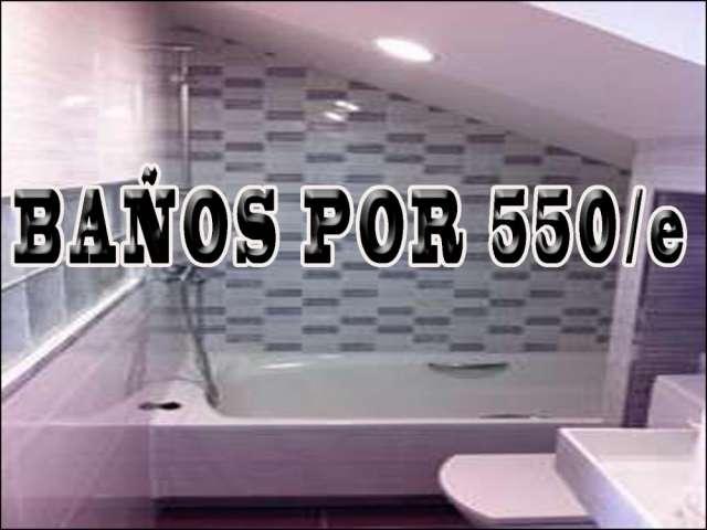 Reforma de albañilería de baño 500/e-cocina 600/e