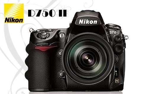 Cámara digital de nikon nueva d750 profesional.