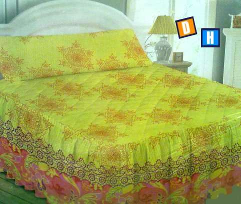 Fotos de Colchas con volante para cubrir la cama 2