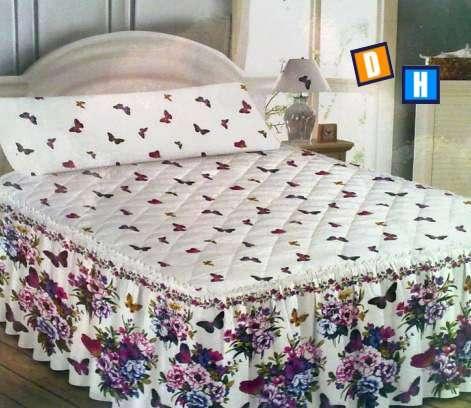 Colchas con volante para cubrir la cama