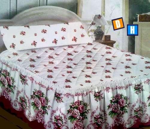 Fotos de Colchas con volante para cubrir la cama 4