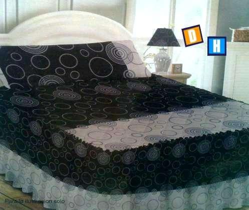 Fotos de Colchas con volante para cubrir la cama 6