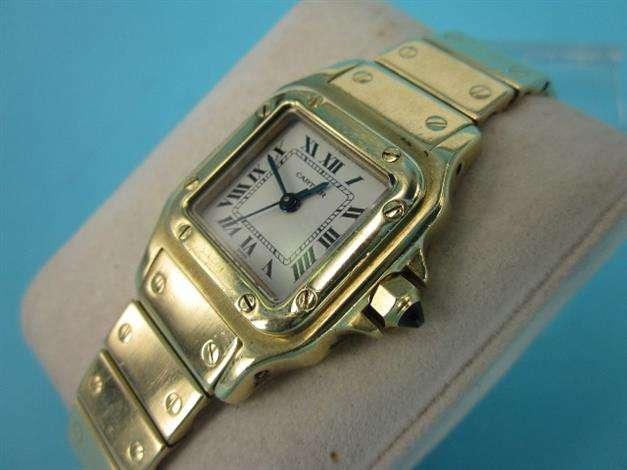 Reloj cartier de oro 18k segunda mano joyería.renuevo.es