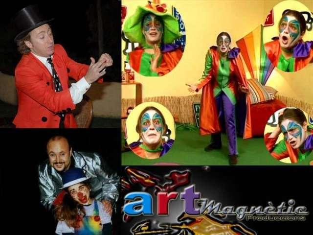 Payasos, magos, bailes, juegos, globos