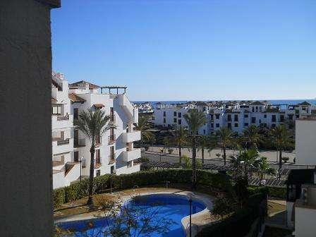 Vistas al mar, altos nuevo vera, 2 dormit+sofácama,aire acondic ,3 piscinas,parking.