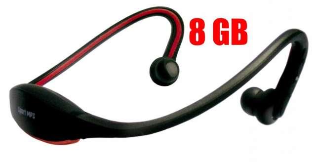 Auriculares mp3 sport con 8 gb de memoria