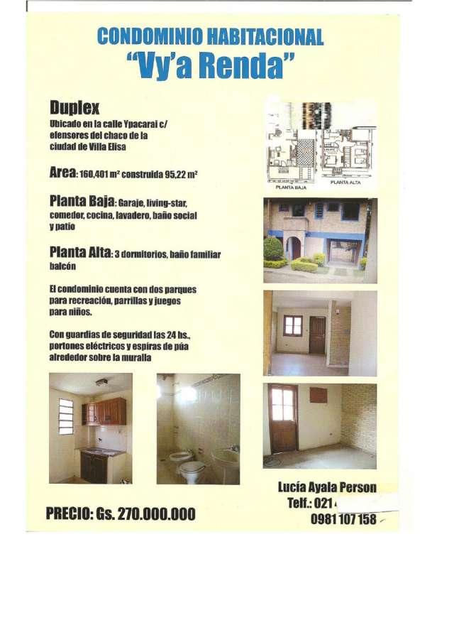 Fotos de Vendo casa tipo duplex en condominio cerrado en  paraguay 2