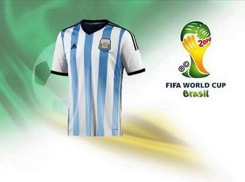 Camiseta del argentina primera brasil mundial 2014