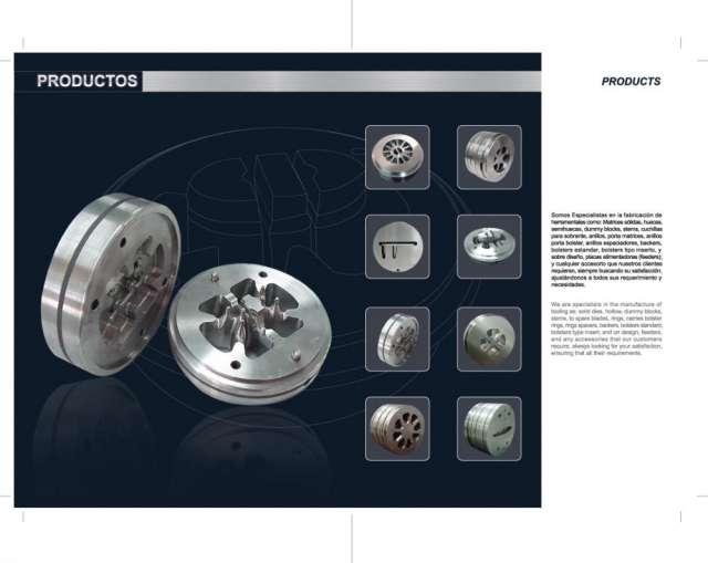 Fabricante de dados y/o matrices de extrusion aluminio
