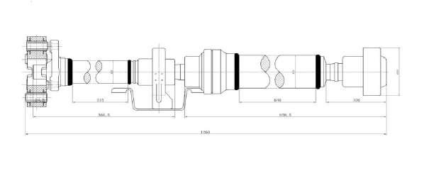 Se vende transmission cardan reparada de vw touareg / q7 / porche cayenne