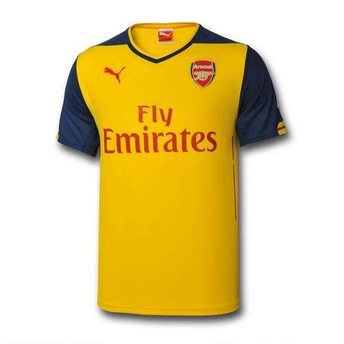 Nueva camisetas futbol arsenal 2014-2015 segunda equipacion
