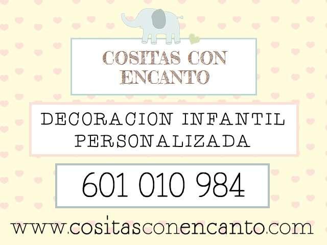 Cuadros infantiles personalizados con el nombre del bebe: cositas con encanto.