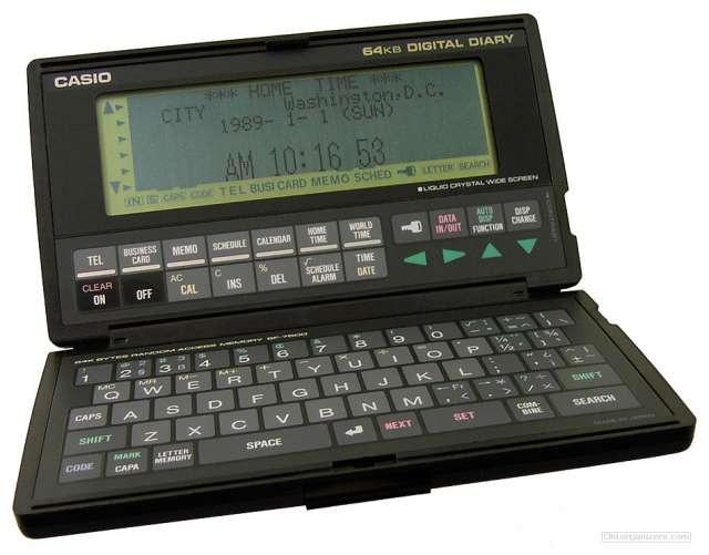Digital diary casio sf 7500