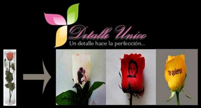 Rosas impresas personalizadas