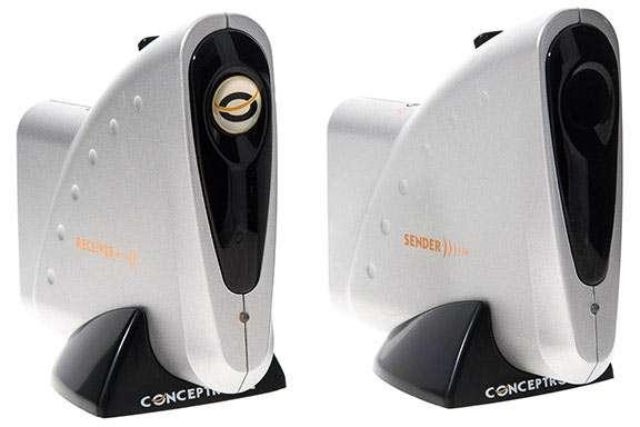 Transmisor de audio y vídeo sin cables marca concentronic con caja