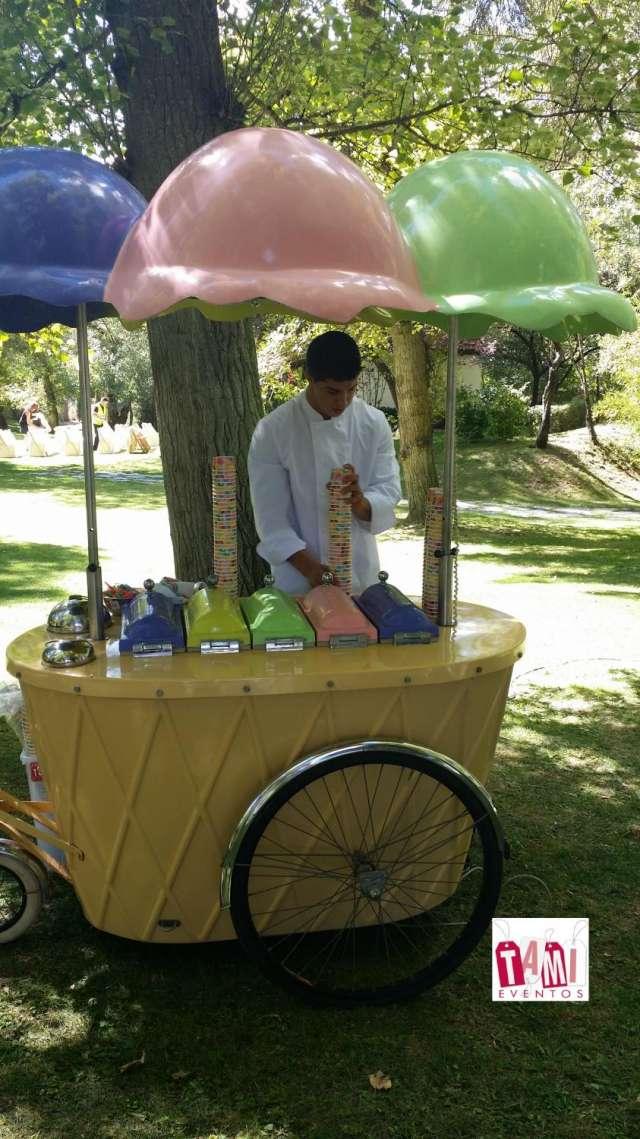 Alquiler de carros de helados artesanos y de helados soft