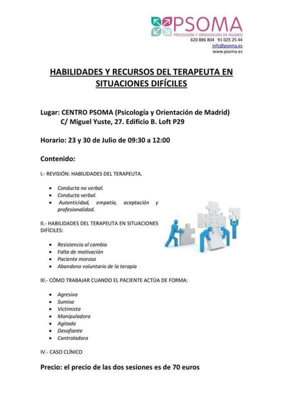 Cursos de formación para estudiantes y profesionales de la psicología.