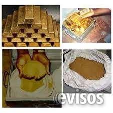 Disponible oro en povlvo y lingotes