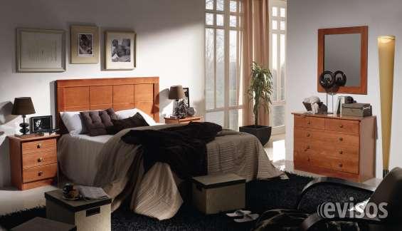Dormitorio de matrimonio macizo en color cerezo nuevo de fabrica